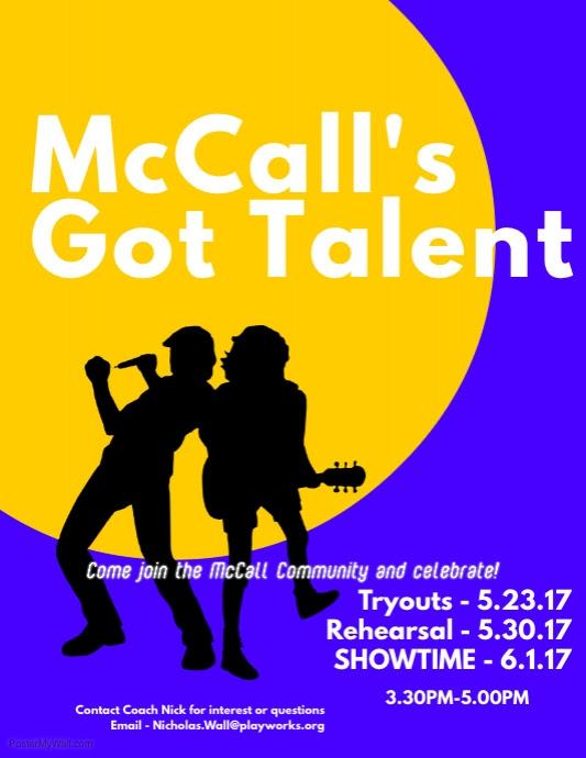 McCall's got talent