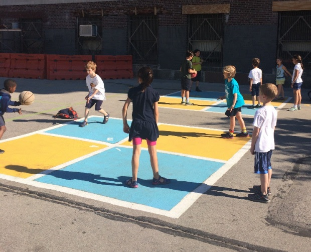 New playground paint