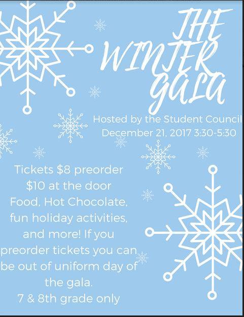 Middle School Winter Gala
