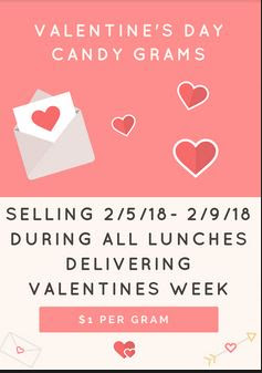 Valentines Candy Grams 2018