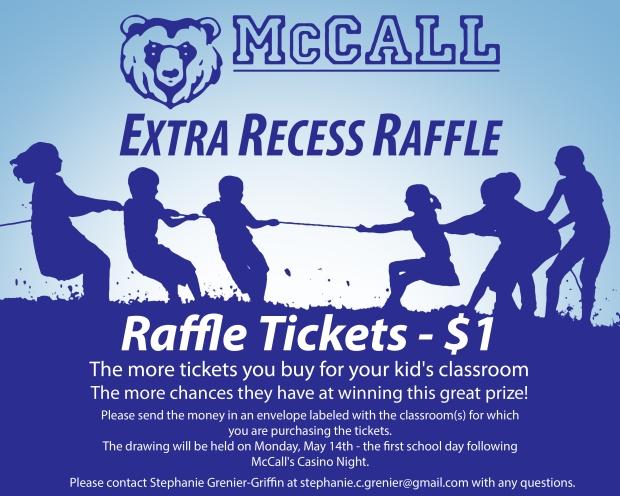 Extra Recess Raffle Flyer - 2018